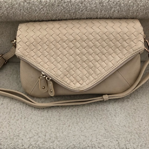 Urban Expressions Handbags - Urban Expressions cream color clutch/shoulder bag